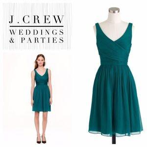 Beautiful emerald J Crew cocktail dress